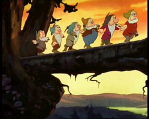 "The Seven Dwarfs from Disney's ""SnowWhite"""