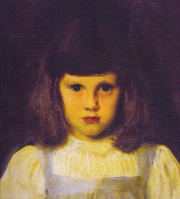"""Sargent's painting of Kate Millet, the daughter of his friends Frank and """"Lily""""Millet"""