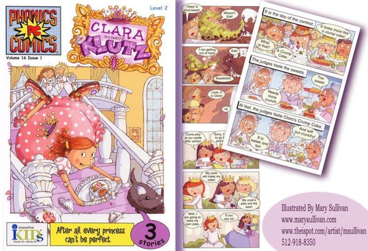 "Mary Sullivan Comic Book for ""PhonicsComix"""