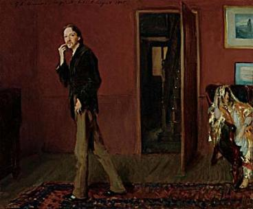 Sargent's painter of novelist Robert Louis Stevenson, another frequenter of the Millets'  home in Broadway.