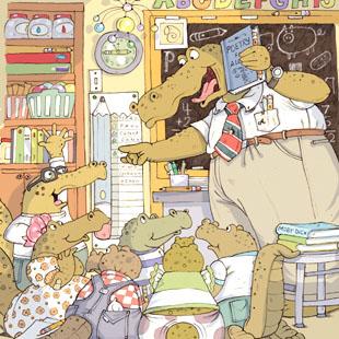 """Teacher in class for """"Highlights for Children"""" by MarySullivan"""