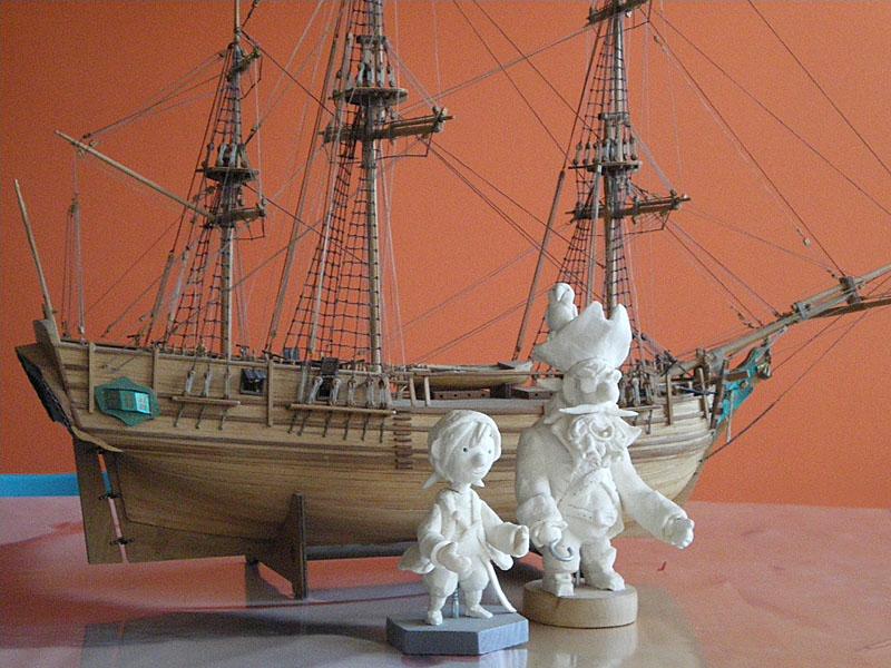 Sebastia Serra modeled his pirates and ship