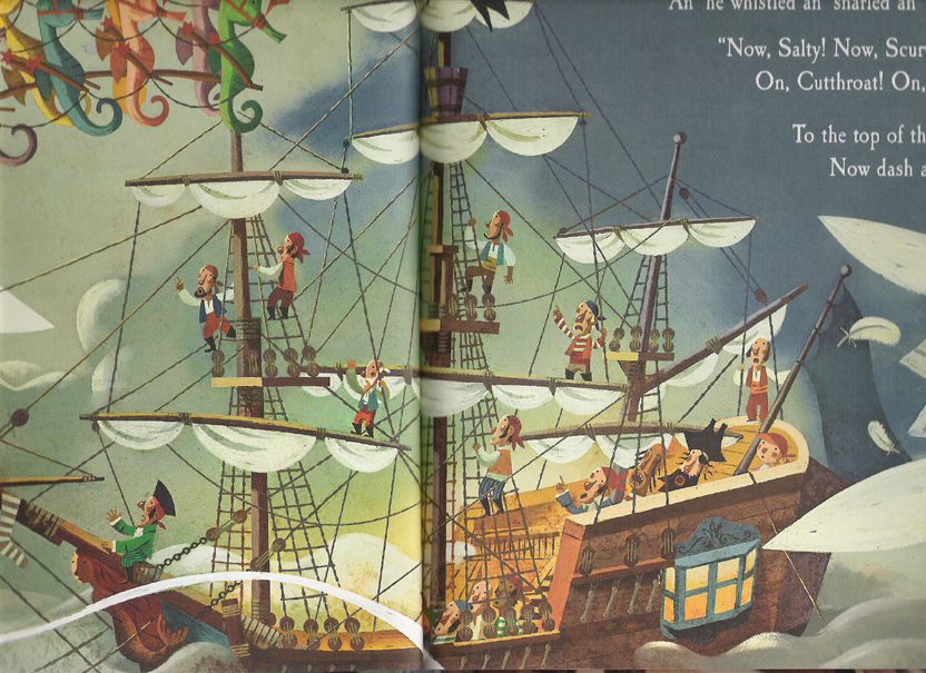 "Serra's pirate ship from ""The Pirate's Night Before Christmas"""
