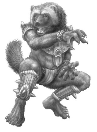 Wolverine warrior by Laura Jennings,from the role playing card game