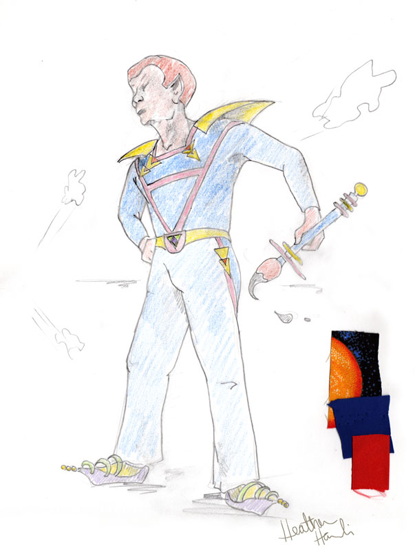 Space Commander Uniform Proposal by illustrator (and former theater costume designer) Heather Hanlin