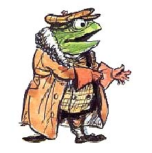 "Ernest Shepard's depiction of Mr. Toad from ""Wind in the Willows"""
