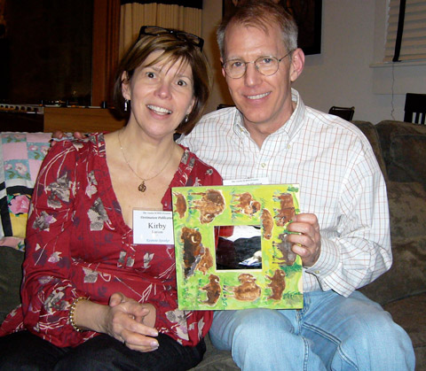 Newbery Honor author Kirby Larson and Mark Mitchell