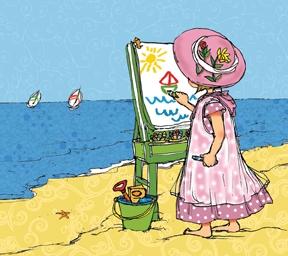 Beach Artist Girl