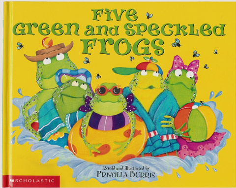 Five Green and Specklled Frogs