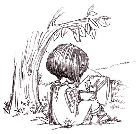 Sketch girl by Priscilla Burris