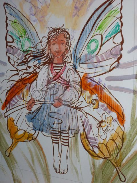 Fairy -- egg tempera demonstration by Richard Jesse Watson