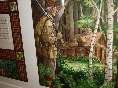 """""""The Huntsman"""" from """"Little Red Riding Hood""""  by Trina Schart Hyman,"""