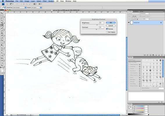 English Illustrator Sarah Wade Photoshop turorial