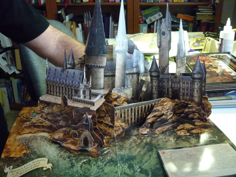 "Pop-up illustrations for ""Harry Potter - a Popup Book"