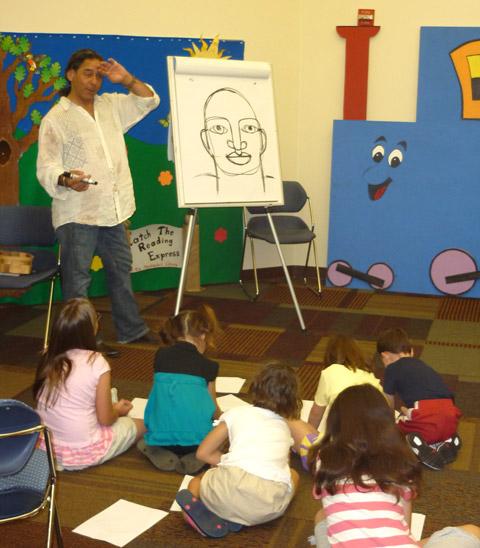David Diaz talks to kids