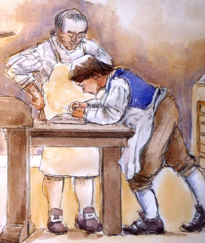 Ben Franklin, Apprentice