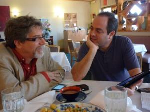 InteractBooks founders Richard Johnson and Ezra Weinstein
