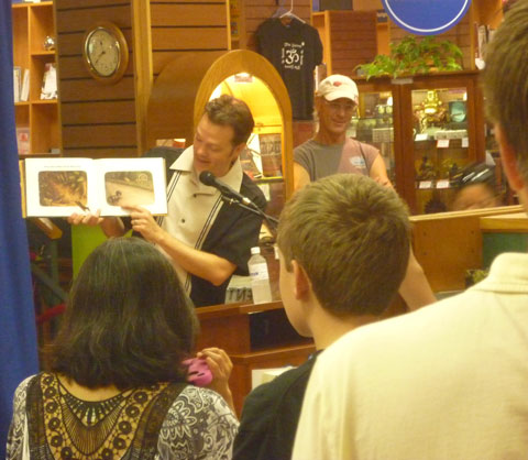 "Jeff Crosby reading from his picture book ""Wiener Wolf"" at BookPeople"