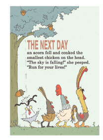 "Page  from ""Chicken Big"" by Keith Graves"