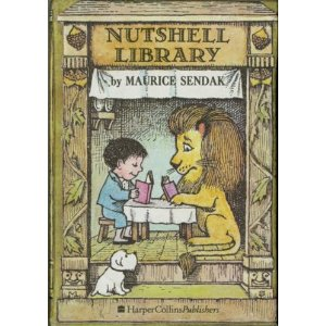 "Nutshell Library by Maurice Sendak with ""Pierre"" featured on the cover"