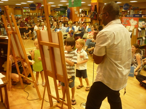 author-illustrator Don Tate at BookPeople