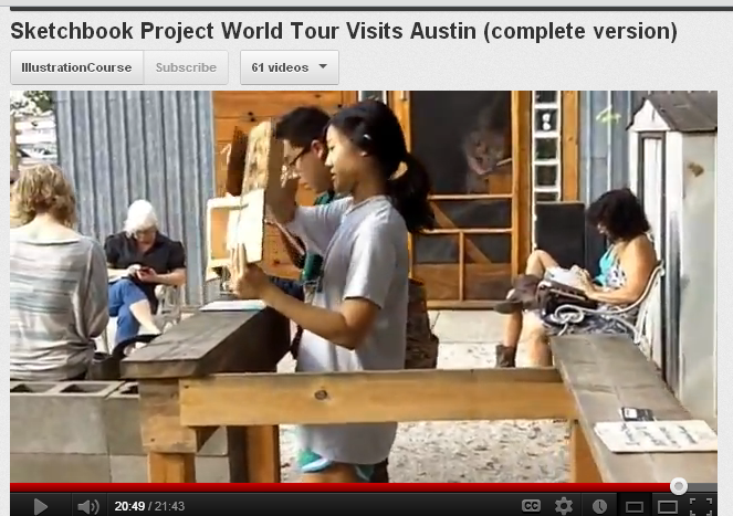 Sketchbook Tour stops in Austin