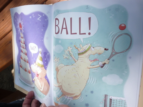 "A spread from Mary Sullivan's ""Ball!"""