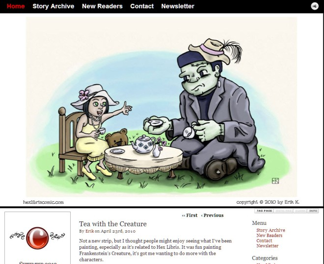 """Hex Libris"" webcomic serial by Erik Kuntz"